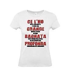 Idea Regalo - T-Shirt Maglietta Laureata - con Scritta Simpatica - Gadget per Festa di Laurea (Taglia L)