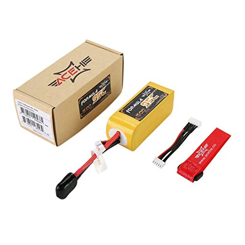 HoganeyVan ACEHE 1500mAh 95C 14.8V 4S1P 22.2Wh Capacity Lightweight High Rated Racing Series Lipo Battery with XT60 Plug for FPV Racing -