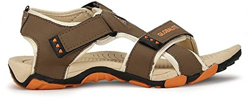 Globalite Men`s Casual Sandal & Floaters GPD0131 (Beige Orange)