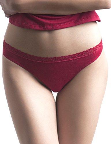 Uniconf Damen Tanga 5er Pack Stretch Baumwolle Farbmix Mehrfarbig