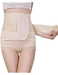 amatorial Abrigo del vientre posparto de las mujeres 3 en 1 Cinturón de recuperación de la