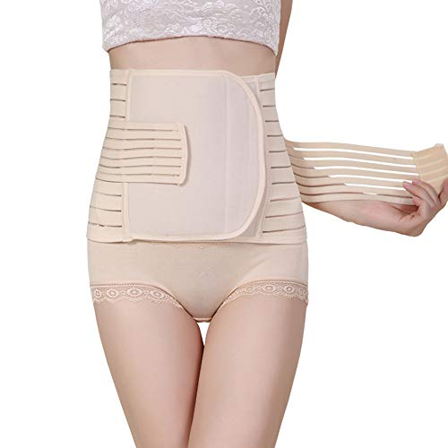 lymty 3 in 1 postpartales Gürtel Unterstützung Erholung Bauchband Korsettverpackung postnatale C-Section Taille Becken Shapewear - Erholung Konzentrieren