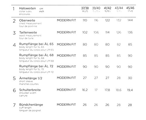 Eterna - Gala - Comfort Fit - Bügelfreies Herren Hemd mit Kent Kragen in Champagner (8500 E187) Champagner (21)