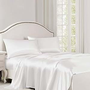 KING Black Jasmine Silk Pure Silk Flat Sheet