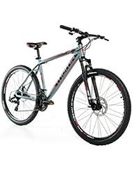 "Moma Bikes Bicicleta Montaña  GTT 27,5""Alu, SHIMANO 24V, Doble Freno Disco, Susp. Delant. (Varias Tallas)"