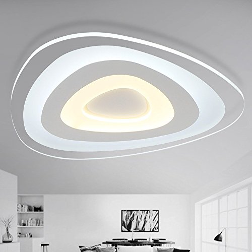 JJ LED modernes ceiling lamp Slimline feux de ceiling lamp LED creative salle de séjour accueillantes lumière caractère minimaliste 200/430/530/630à manger mm lampe diamètre 63cm, diam, 220V-240V