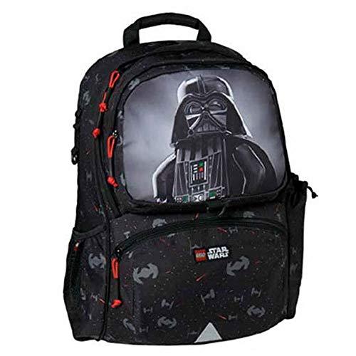Lego lego star wars rucksack mit sporttasche zainetto per bambini, 41 cm, nero (black)