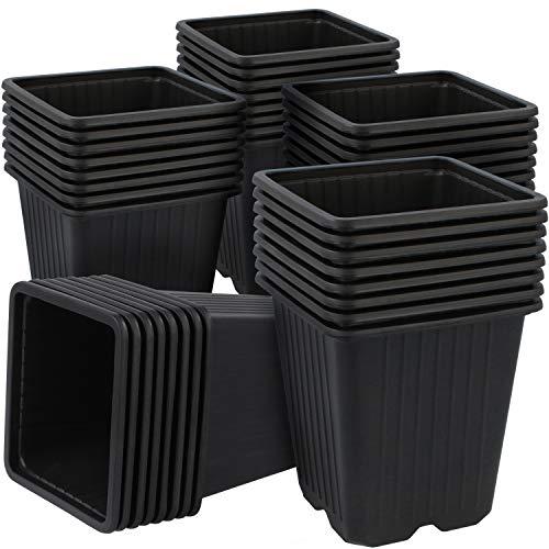 Com-four® 40x vasi per coltivazione per piante - vasi per piante in crescita - vaso per piante da riproduzione (40 pezzi - vaso per semi 9.5x10cm)