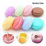 AOLVO Macaron Box, Colorful Lindo Divertido portátil Mini Macaron joyería Caja de Almacenamiento Forma Macaron Pastillero Organizador – Ear Buds Ear Plug Collar Anillo Caja de joyero