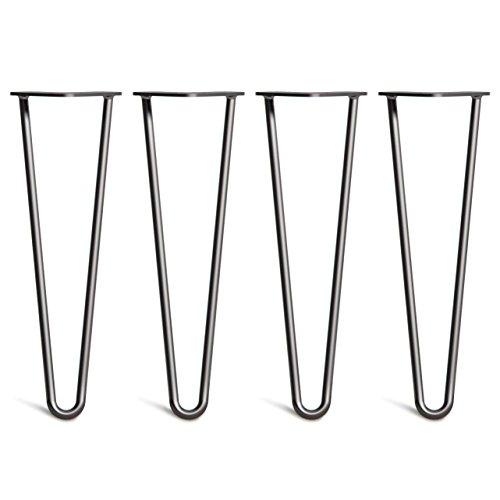 Schrank Leg (4x Haarnadel Heavy Duty 12mm Tischbeine Austauschbare Tisch&Schrank Beine für Heimwerker - Mitte des Jahrhunderts Modern Stil - Verfügbar in Höhe von 40cm-86cm - Freie Bodenschoner und Schrauben)