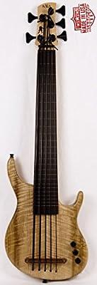Kala U Bass California Exotic Myrtle Top Solid Body with a Gigbag traste Ted/5string (imagen similar) KA ubass a mrtl FS5