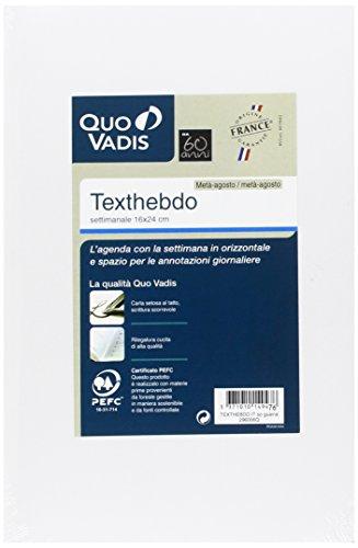 Quo Vadis 29600620MQ Anno 2020 TEXTHEBDO IT Ricambio - 16x24cm - Settimanale - Ago/Ago ANNO SCOLASTICO-ACCADEMICO