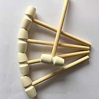 Mazo de madera para niños de juguete para niños pequeños martillo de madera