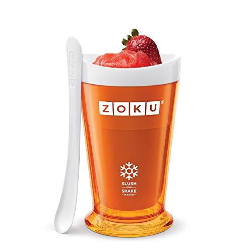 Zoku Slush & Shake Maker Máquina de helados y batidos Naranja - Heladora (Máquina de helados y batidos, 1 senos, 8 h, Naranja, 101,6 mm, 101,6 mm)
