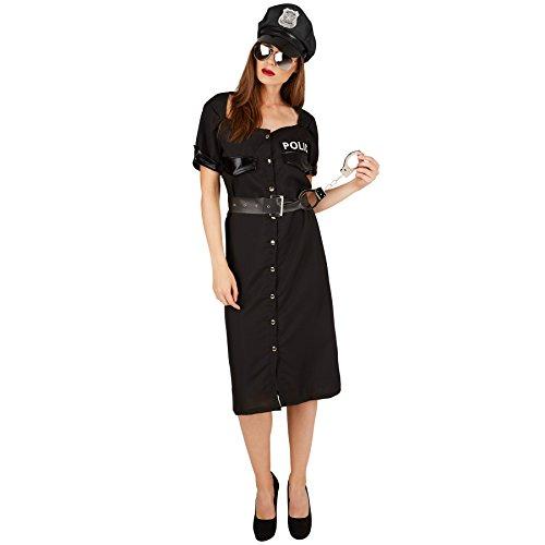 stüm Polizistin | Uniform inkl. Handschellen und Kunstlederimitat Gürtel (XXL | Nr. 301408) (Polizist Halloween-kostüm-make-up)