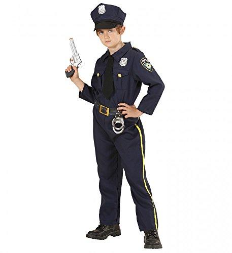 Kinder-Kostüm Polizei Uniform für Jungen und Mädchen Kleinkind Polizist Officer, Kindergröße:128 - 5 bis 7 Jahre