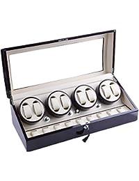 xtelary regalo de primera calidad de lujo automático rotación Watch Winder 8+ 9piel almacenamiento