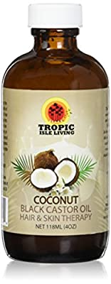 Jamaican Coconut Black Castor Oil 4oz from Tropic Isle Living