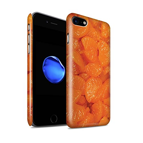 STUFF4 Glanz Snap-On Hülle / Case für Apple iPhone 8 / Melone Muster / Saftige Frucht Kollektion Mandarine
