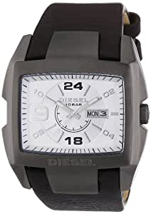 diesel dz1216 montre homme quartz analogique montre acier bracelet en cuir marron. Black Bedroom Furniture Sets. Home Design Ideas
