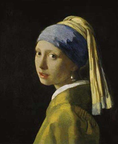 Johannes Vermeer - Ragazza con l'orecchino di perla Barock Kunstdruck - Grösse 60x80 cm