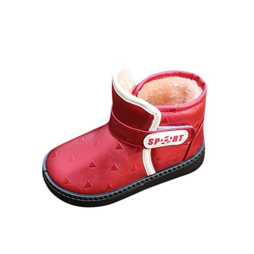 ce2793ab8b9be Chaussures Bébé Binggong Filles Bottes de Neige Antidérapant Sole Souple  Bottes d hiver Bébé Fourrure