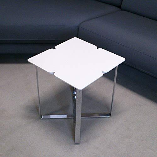 Möbel Akut Couchtisch ROLF Benz Freistil 195 Kleeblatt hellgrau 42x42 cm