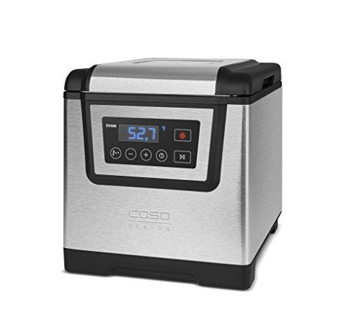 Caso 1307 Sous Vide Garer SV 500, Temperatur in 0,1C Schritten einstellbar inklusiv Halter für Vakuumbeutel, 1200 W, silber - 2