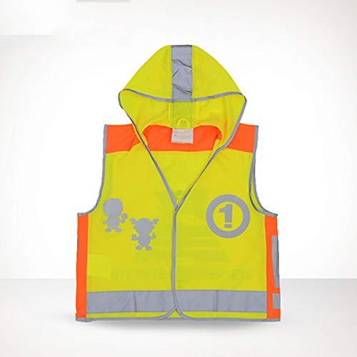 KLEDDP Reflektierende Weste Kinder Kapuzenfarbe Hellen Mantel atmungsaktivem Komfort Reflektierende Westen (Size : XL)