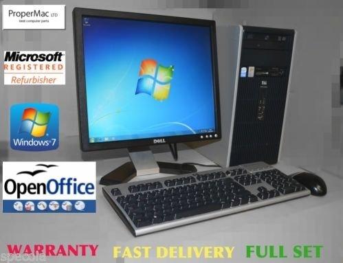 HP Desktop PC System 17``Monitor Key Win 7 Mouse 160GB HDd 4GB Warranty Genuine Windows 7 Installed