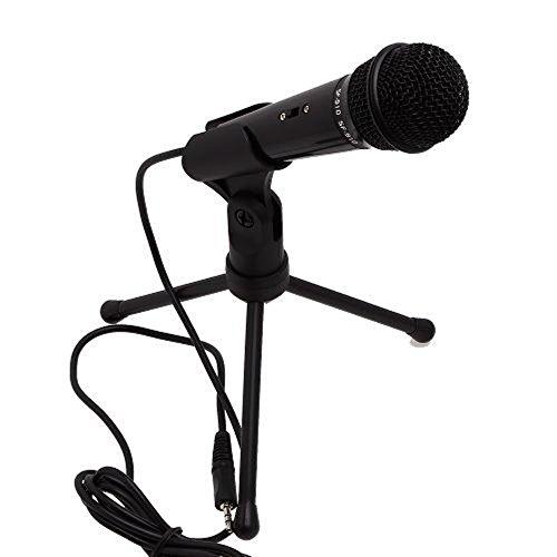 Temo micrófono de condensador profesional con 3-legs trípode para PC, portátil, teléfonos Android, iPhone, iPad, Tablets y Xbox 360grabación para gaming, Skype, o Youtube de grabación