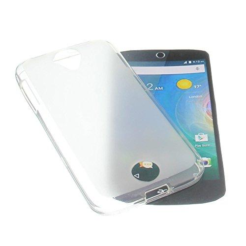 foto-kontor Tasche für Acer Liquid Z330 Liquid M330 Gummi TPU Schutz Handytasche milchig transparent