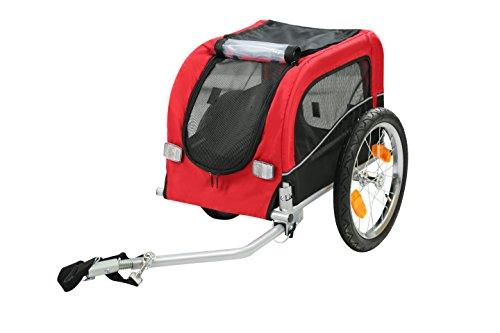 Style home 2 in 1 Hundeanhänger Fahrradanhänger Transportwagen für Tiere Hundewagen Lastenwagen Radanhänger Rot und Schwarz JGT01-RS (Kinderwagen Fahrräder)