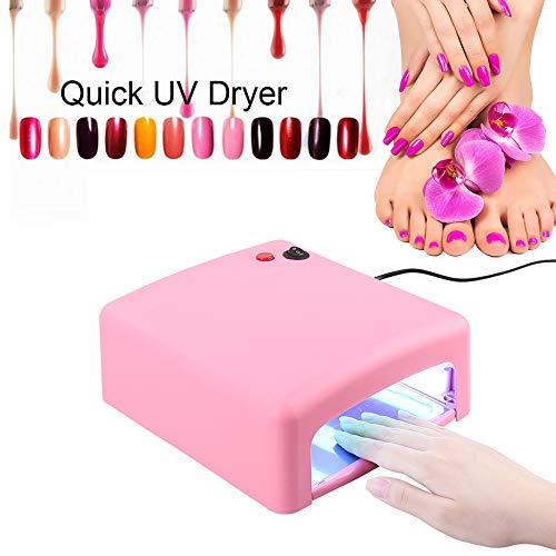 Turefans Nagel Schnell Trockner,LED Lampe Gel,Nagel-Phototherapie-Gerät 36W, Nagel aushärtend, energiesparend und Umweltschutz, harmlos für den menschlichen Körper (Rosa) - Phototherapie-gerät