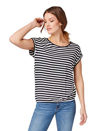 TOM TAILOR für Frauen T-Shirts/Tops Gemustertes T-Shirt  Navy Stripe, XXXL