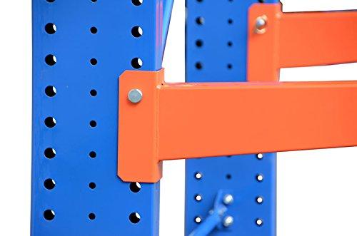 4,9m Kragarmregal doppelseitig, 200cm hoch, 50cm tief, 3 Kragarmebenen – Langgutregal Schwerlastregal - 7