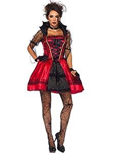 Wonderland W5021503012 Costume gothique Vampire pour femme Rouge Noir Taille L
