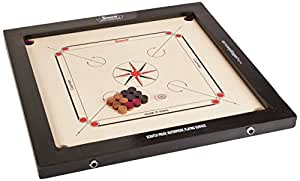 Surco Champion Speedo Carrom Board With Coins And Striker, 16mm