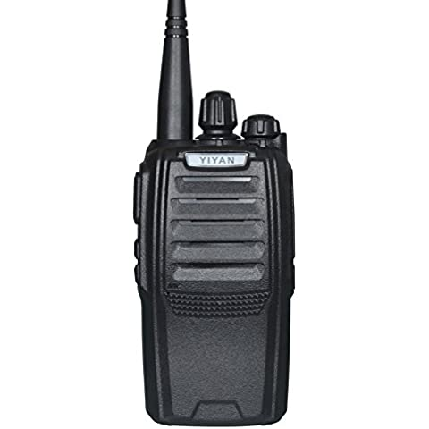 Jamón radio de dos vías YI-627 UHF 400-470MHz 16 canales Vox 5 vatios 2-5 millas Cb Walkie-Talkie Transceptor, Black