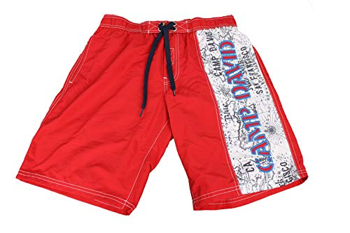 Camp David Herren Badeshorts Badehose Swim Shorts rot S