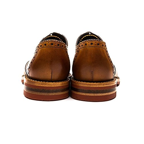 Loake Redgrave Homme Formelle Chaussures à lacets Tan Burnished Calf