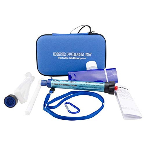 CHEYAL Mini-Wasser Filtrations System, Tragbarer Wasserfilter Persönlicher Wasserfilter Für Wandern, Camping, Reisen, Rucksack Outdoor-Sport und Notfallvorsorge, Entfernt Bakterien und Protozoen. -