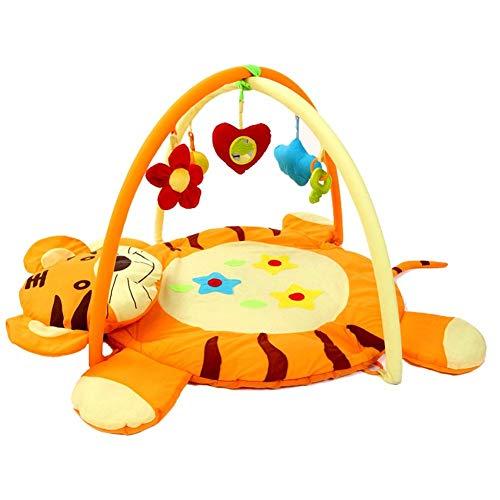 ADATEN Baby Spielmatte Tiger Teppich Aktivität Fitness Rack Tragbar Falten Krabbeln Polster Mit Musik Lichttuch Puppe Raupe Puppe Und Puzzle Spielzeug - Falten Pp-wand