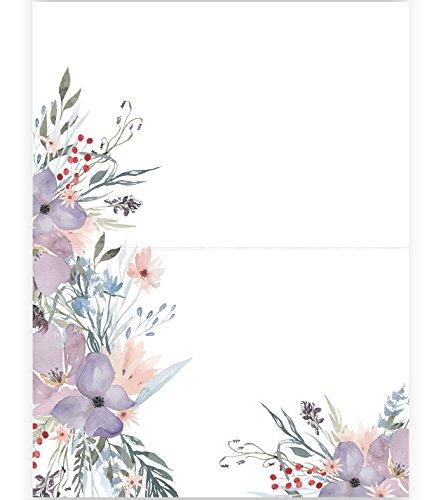 Tischkarten | Platzkarten | Lila Blumen