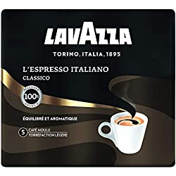 Lavazza - Café Moulu L' Espresso Italiano - Expresso Équilibré et Aromatique - Lot de 2 x 250 gr [500 gr]