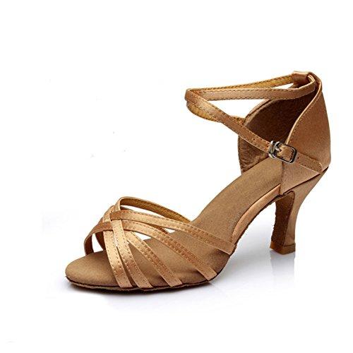 latino scarpe/Femmina adulta scarpe col tacco alto latino/Morbide scarpe da ballo inferiori B
