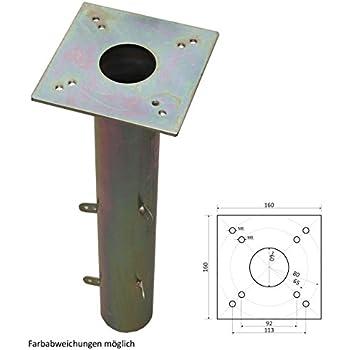 ProKIRA® Universal Bodenhülse Für Sonnenschirme U0026 Wäschespinnen Geeignet,  16x16cm, Einfache Montage