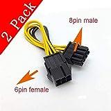 Grafikkarten-Stromadapter (PCI-e, 6-polig weiblich auf 8-polig Stecker)(2er-Pack)-Kalolary