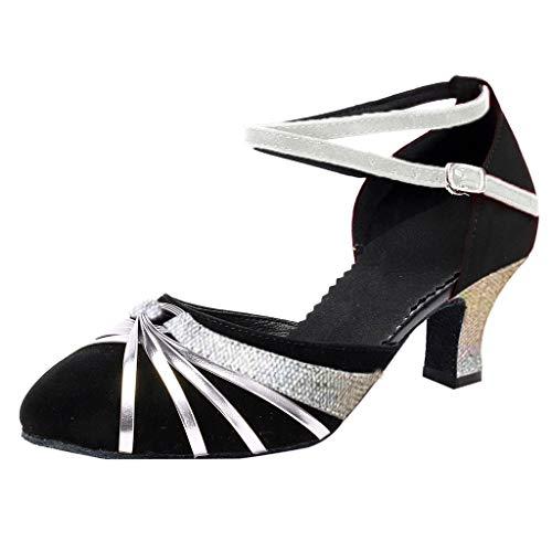 Amlaiworld Damen Rumba Waltz Prom Ballroom Latin Salsa Tanzschuhe Weiche untere quadratische Schuhe