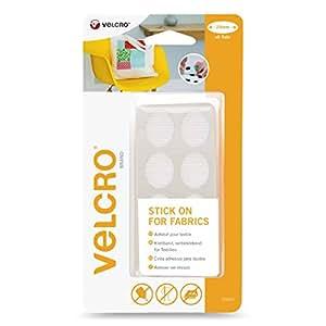 velcro selbst klettverschluss f r textilien oval 24 mm x 8 cm sets wei vel ec60412 amazon. Black Bedroom Furniture Sets. Home Design Ideas